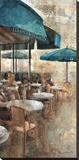 Terraza Café Les Deux Magots Stretched Canvas Print by Noemi Martin