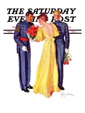 """Courting Cadets,"" Saturday Evening Post Cover, May 16, 1936 Giclee Print by R.J. Cavaliere"