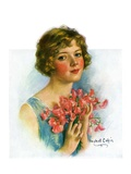 """Woman and Flowers,""June 12, 1926 Giclee Print by William Haskell Coffin"