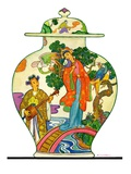 """Oriental Vase,""April 5, 1930 Giclee Print by Henry Soulen"