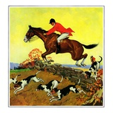 """Fox Hunter,""November 1, 1932 Giclee Print by Robert Keareote"