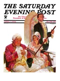 """Sleeping in Church,"" Saturday Evening Post Cover, April 7, 1934 Giclee Print by Frederic Mizen"