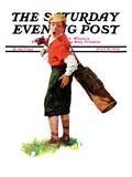 """Wounded Caddy,"" Saturday Evening Post Cover, July 18, 1936 Giclee Print by Charles A. MacLellan"