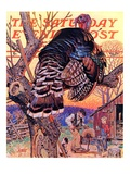 """""""Turkey in the Tree,"""" Saturday Evening Post Cover, November 25, 1939 Giclee Print by J.C. Leyendecker"""