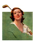 """Portrait of Lady Golfer,""April 22, 1933 Giclee Print by Penrhyn Stanlaws"