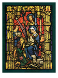 """Christmas Stained Glass,""December 1, 1949 Giclee Print by Salvadore Pinto"