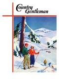 """Ski Break,"" Country Gentleman Cover, January 1, 1939 Giclee Print by Charles Hargens"