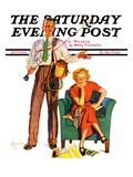 """Whose Vacation,"" Saturday Evening Post Cover, July 25, 1936 Giclee Print by R.J. Cavaliere"