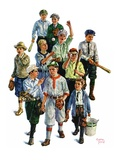 """Boy's Baseball Team,""April 17, 1926 Giclee Print by Eugene Iverd"