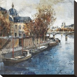 Ile de la Cité, Paris Stretched Canvas Print by Marti Bofarull