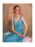 """Blue Dress,""February 4, 1933 Giclee Print by Charles W. Dennis"