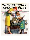 """Bus Fare,"" Saturday Evening Post Cover, September 9, 1939 Giclee Print by McCauley Conner"