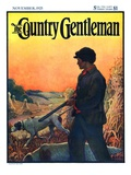 """Hunting with Dogs,"" Country Gentleman Cover, November 1, 1925 Giclee Print by Zack Hogg"