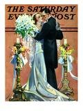 """""""Bridal Couple Dancing,"""" Saturday Evening Post Cover, June 6, 1931 Reproduction procédé giclée par Elbert Mcgran Jackson"""