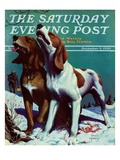 """Hound Dog,"" Saturday Evening Post Cover, December 9, 1939 Giclee Print by Jack Murray"