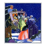 """Victorian Christmas Scene,""December 1, 1931 Giclee Print by Kraske"