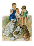 """Doggie Beggars,""May 31, 1930 Giclee Print by Ellen Pyle"