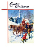 """Sleigh Ride Through Town,"" Country Gentleman Cover, December 1, 1939 Giclee Print by William Meade Prince"
