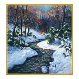 """Stream in Snowy Woods,""January 1, 1933 Giclee Print by Walter Baum"