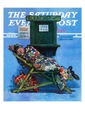 """First in Line for Tickets,"" Saturday Evening Post Cover, September 30, 1939 Giclee Print by Monte Crews"