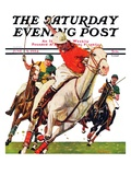 """Polo Match,"" Saturday Evening Post Cover, June 9, 1934 Giclee Print by Maurice Bower"