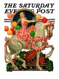 """Circus Bareback Rider,"" Saturday Evening Post Cover, April 25, 1931 Giclee Print by Elbert Mcgran Jackson"