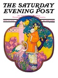 """Chinese Garden,"" Saturday Evening Post Cover, May 16, 1931 Giclee Print by Henry Soulen"