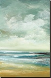By The Sea Stretched Canvas Print by Cat Tesla