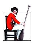 """Girl with Oar in Chair,""August 23, 1924 Giclee Print by E. Troth"