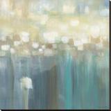 Aqua Light Stretched Canvas Print by Karen Lorena Parker