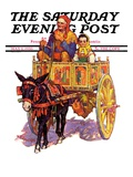 """Gypsy Wagon,"" Saturday Evening Post Cover, May 2, 1936 Giclee Print by Henry Soulen"