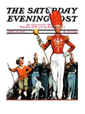 """Joining the Parade,"" Saturday Evening Post Cover, April 18, 1936 Giclee Print by James C. McKell"