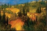Hillside - Tuscany Stampa trasferimenti su tela di Philip Craig
