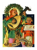 """Christmas Minstrels,""December 21, 1929 Giclee Print by Joseph Christian Leyendecker"