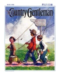 """Going Fishing,"" Country Gentleman Cover, May 1, 1926 Giclee Print by William Meade Prince"
