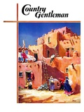 """Adobe Village,"" Country Gentleman Cover, February 1, 1940 Giclee Print by G. Kay"