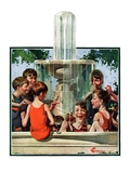 """Swimming in Fountain,""July 24, 1926 Giclee Print by Elbert Mcgran Jackson"