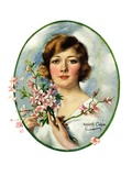"""Woman and Dogwood,""May 1, 1926 Giclee Print by William Haskell Coffin"