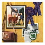 """4-H Momentos,""April 1, 1950 Giclee Print by John Atherton"