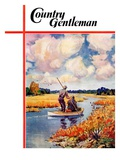 """Hunting from a Boat in the Marsh,"" Country Gentleman Cover, November 1, 1939 Giclee Print by Q. Marks"