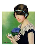 """Purple Posey,""May 22, 1926 Giclee Print by Penrhyn Stanlaws"
