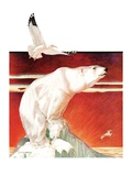 """Polar Bear on Iceberg,""January 14, 1933 Giclee Print by Jack Murray"