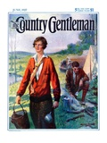"""""""Camping Couple,"""" Country Gentleman Cover, June 1, 1927 Giclee Print by Harold Brett"""