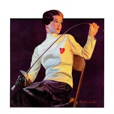 """Female Fencer,""April 1, 1933 Giclee Print by Alfred F. Cammarata"