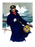 """Coast Guard,""February 11, 1933 Giclee Print by Edgar Franklin Wittmack"
