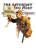 """'No Hunting',"" Saturday Evening Post Cover, October 28, 1939 Giclee Print by Douglas Crockwell"