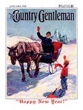 """'Happy New Year',"" Country Gentleman Cover, January 1, 1928 Giclee Print by William Meade Prince"