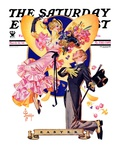"""""""Romantic Easter,"""" Saturday Evening Post Cover, March 31, 1934 Giclee Print by J.C. Leyendecker"""