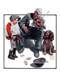 """Generous Newsboy,""September 13, 1924 Giclee Print by William Meade Prince"