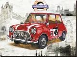 British Car Reproduction transférée sur toile par Bresso Sola